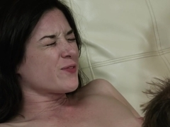 Stoya always has a great time in couch
