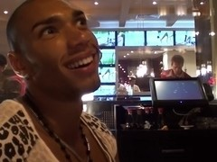 Bella Margo  in black guy and an amateur hot girl enjoy striptease