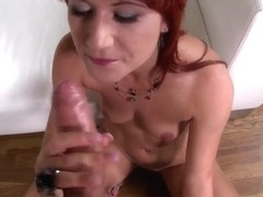 Redhead Lucy Bell is sucking dick so well