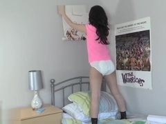 Faye Puts Up Posters and Wets Diaper