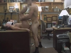Customers wife fucked in the backroom of the pawnshop