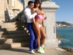 Hot latina babe Franceska Jaimes getting hardcore outdoor banging