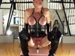 Exotic amateur shemale video with Latex, Dildos/Toys scenes