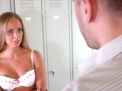 Kinuski Kakku is sucking a hard dick in the classroom, because she wants to ride it