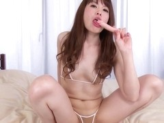 Japanese girl masturbating - uncensored, solo, jav, dildo, toy, petite, pale
