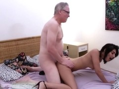 Sarah Cute - Horny Old Grandpa Hans