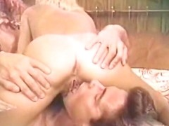 Exotic facial retro scene with Peter North and Marc Wallace