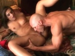 Snazzy dusky Mischa Brooks is making a perfect Blowjob