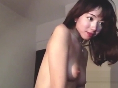 Big titty Chinese girl with anime-eyes rides her BF
