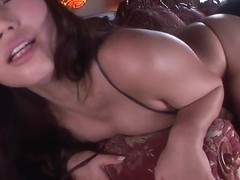 Cute breasty asian Ai Sayama is blowing a cock