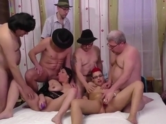 wild chicks in german groupsex orgy