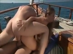 Hot Blonde Babe Sucks On An Hard Cock