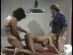 Veronica Hart, John Alderman, Samantha Fox in vintage xxx scene