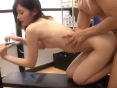 Mizuho Ueharas workout turns into a hardcore fuck session