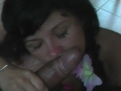 Bella Margo  in vacation porn video showing a chick giving a bj