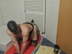 Sissy guy sucks and fucks Dildos daily for his mistress