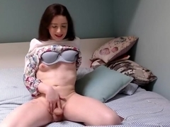 cute tgirl spanks and play