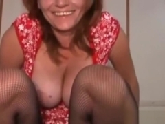 Hot Mom In Stockings Can't Get Enough Cock!