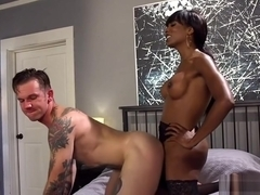 Huge ass ebony tranny anal fucks ink guy