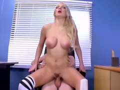 Sexy schoolgirl Kenzie Taylor gets penetrated in a classroom