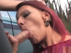 Sexy real babe gets cock