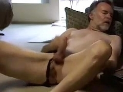Sweet dude is relaxing in his room and shooting himself on webcam