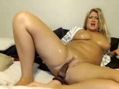 Horny Blonde In Solo Masturbation