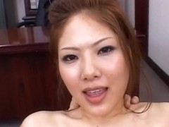 Aya Matsuki Kinky Asian doll in office bukkake