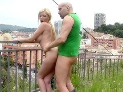 Donna Bell in Sexy Blonde Gets Fucked On A Bench In Public!