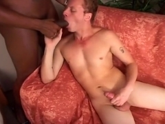 Black Shemale in Interracial Guy Fuck