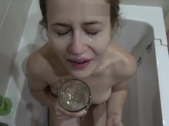 drinking piss and cum