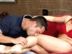 Kitty Cat gets her sexual feet caressed well