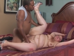 Big moaning babe fucked very hard by a big black cock