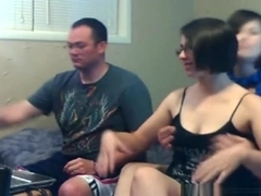 Nerdy foursome groupsex party