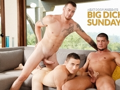 Mark Long & Dante Martin & Brad A in Big Dick Sunday XXX Video