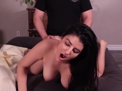 Husband Gives Hot Latina Wife Multiple Orgasms Before Cumming All Over Her