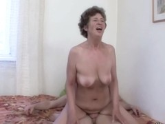 Hairy granny had anal sex in front of the camera and enjoyed every single second of it