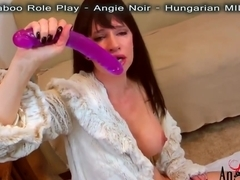 BIGGEST DEEPTHROAT + GAG two DOUBLE HEADED DILDOS! By Angie Noir