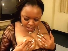 Amateur Black Babe Sucks Off Black Dick