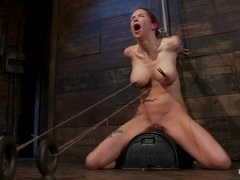 Extreme Nipple Torment, Brutal Gag, A Skull Fucking, While The Sybian Makes Her Cum Her Brains Out.
