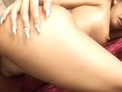 Ramu Nagatsuki Naughty Asian babe gets three way fucking