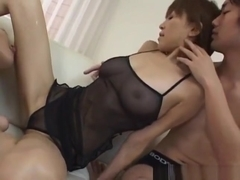 Jun Kusanagi Asian Milf Gets Horny Pussy Masturbated In