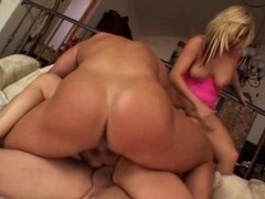 British floozy Alicia Rhodes receives drilled in a foursome