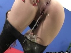 Babe ###s and uses her small pussy pump